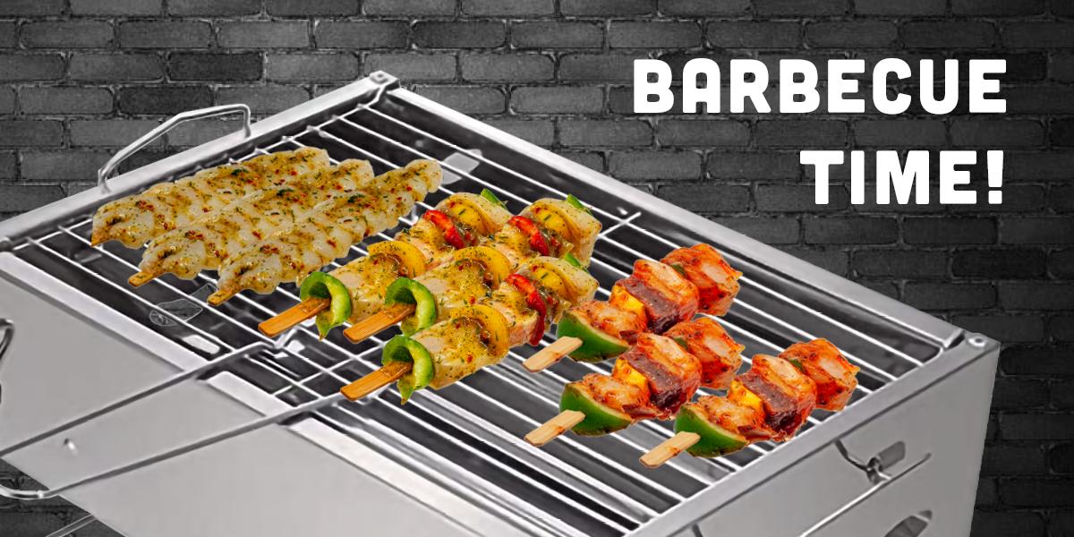 Barbecue Time Diverse Visspiezen